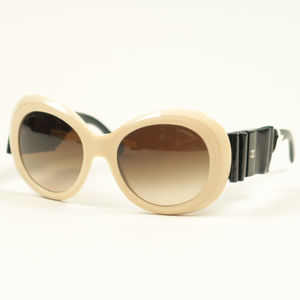 Chanel 5282-Q Cream Black Bow Gradient Sunglasses